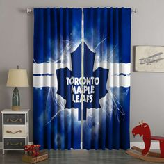 3D Printed Toronto Maple Leafs Style Custom Living Room Curtains – Westbedding