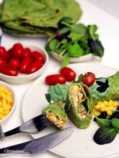 Spinatpandekager med hjemmelavet tunsalat og guacamole, www.bydianawi.com Spirulina, Avocado Toast, Guacamole, Food And Drink, Lunch, Vegan, Pizza, Breakfast, Forslag