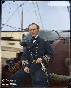 Admiral John A. Dahlgren of the US Navy photographed by Matthew Brady American Civil War, American History, Us Navy Uniforms, Navy Admiral, Union Army, Major General, Civil War Photos, Battleship, Salts