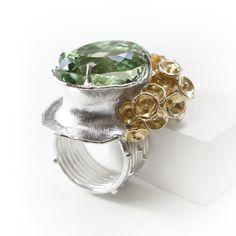 莫內水晶花園泡泡戒指