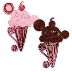 quilled ice cream cone - Christmas gift for V&G Ice Cream