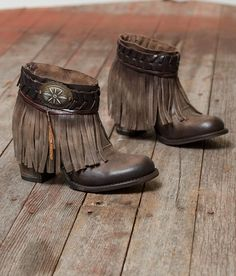 Freebird by Steven Chief Ankle Boot - Women& Shoes Boho Boots, Fringe Boots, Casual Boots, Cowgirl Boots, Western Boots, Western Style, Leather Ankle Boots, Ankle Booties, Bootie Boots