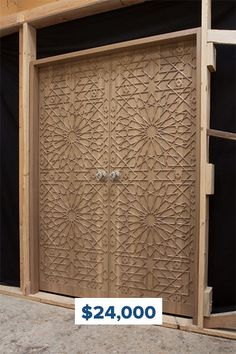 Tailor-made hand-carved wooden doors to accentuate your log or timber home. Our master craftsmen can create whatever you can imagine! Timber Front Door, Linden Wood, Entry Doors, Sliding Doors, Timber House, Wood Windows, Unique Doors, House Doors, Decorative Panels