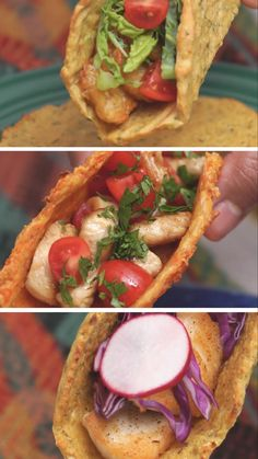 Taco night just got a whole lot healthier with surprisingly delicious shells made of zucchini, cauliflower and carrots. Taco night just got a whole lot healthier with surprisingly delicious shells made of zucchini, cauliflower and carrots. Mexican Food Recipes, Vegetarian Recipes, Cooking Recipes, Healthy Recipes, Brisket Tacos, A Food, Food And Drink, Veggie Tacos, Cauliflower Tacos