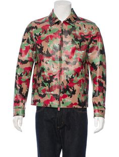 Valentino Camouflage Leather Jacket w/ Tags