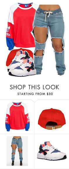 """""""Cheerleader"""" by queen-tiller ❤ liked on Polyvore featuring adidas Originals and NIKE"""