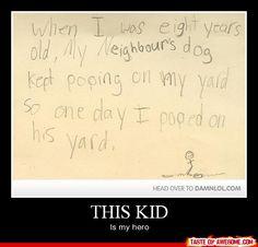 I hope my neighbor reads this