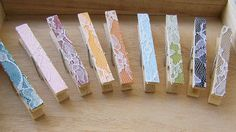 SALE Lace Clothespins Choose Your Own Color  by theepapergirl, $6.40
