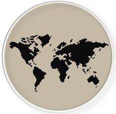 INSTANT DOWNLOAD,Free shippingCounted Cross-Stitch PDF,world map ,2 patterns  1 price ,zxxc0628 by danceneedle on Etsy