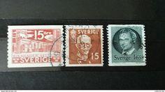 RARE SET LOT 15 ORE+1.65 SVERIGE DENMARK DANMARK 1913-30 USED  STAMP TIMBRE - 1913-47 (Christian X)