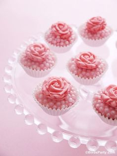 Bejeweled Pink Rose Truffles