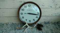 Check out this item in my Etsy shop https://www.etsy.com/listing/453557330/mid-century-industrial-school-wall-clock