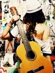 Resultado de imagen para guitar with girl wallpapers