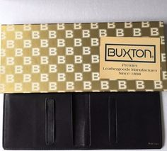 Buxton Black Leather Cowhide Wallet New Box Vintage Soft Bifold Valentine Gift #Buxton #Bifold