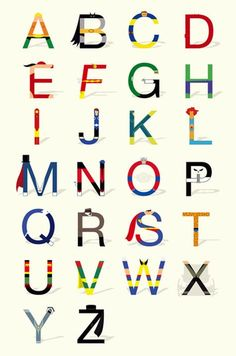 Alfabetos criativos de Fabian Gonzalez