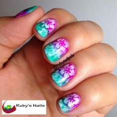 Ruby's Nails: June Nail Art Challenge, Day 22: Tropical