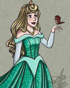 Princess Aurora in her green dress and her bird friend Gravity Falls, Pixar, Disney Movie Characters, Fictional Characters, Sleeping Beauty Art, Briar Rose, Prince Phillip, Princess Aurora, Cosplay