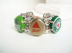 pop tab crafts | Beer Bracelet - Soda Tab/ Beer Cap Wristband - ... | Pop tab crafts