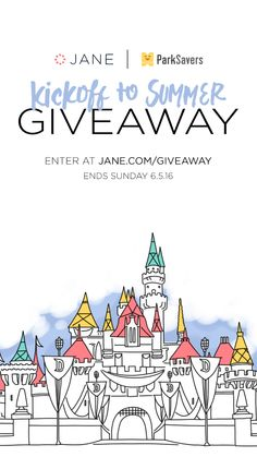 I entered the Jane.com #Giveaway for a chance to win fun prizes! Would be great if I won, since we are going anyway!!!!!