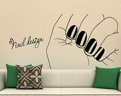 Custom Name Wall Decals Nail Polish Fashion by DecalMyHappyShop