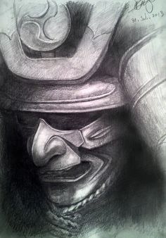 my samurai armor drawing