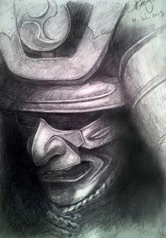 my samurai armor drawing