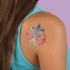 Tulip® Body Art™ Little Miss Shimmer Jewelry Tattoo, Little Miss, Watercolor Tattoo, Create Your Own, Body Art, Crafts For Kids, Glitter, Brooch, Crafty