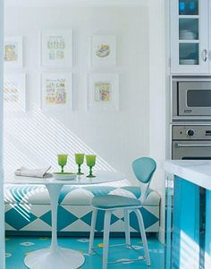 Photo for the floor Turquoise and Blue in A Kitchen from Apartment Therapy San Francisco by Monika2