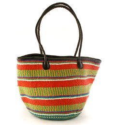 Recycled Plastic Handbag with Leather Strap