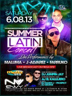 J Alvarez - Farruko - Maluma - Envy Nightclub - June 8, 2013