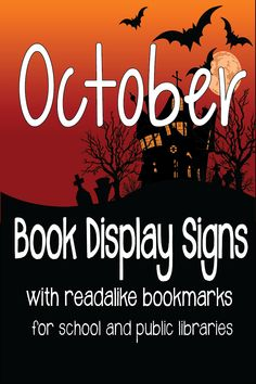 This is a set of nine display signs for school and public libraries. There are six themes, and it also includes editable readalike bookmarks. School Library Displays, Middle School Libraries, Library Themes, Public Libraries, Elementary Library, Library Ideas, Library Decorations, Children's Library, Social Studies Notebook