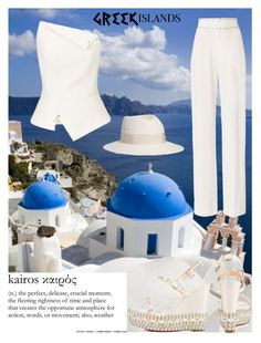 """""""Once in Greece..."""" by akalinin ❤ liked on Polyvore featuring 10 Crosby Derek Lam, Roland Mouret, Christian Louboutin, Maison Michel and Kye"""