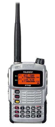 Transceptor walkie-talkie Yaesu FT-1DE     Ofrece comunicaciones analógicas y digitales en las 2 bandas (VHF y UHF). Recepción banda aerea y otras.