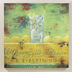 """Yes, I have this in my office!  Rodney White """"Nothing to Dream"""" Vintage Sign at Cost Plus World Market"""