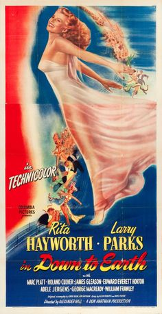 "Movie Posters:Musical, Down to Earth (Columbia, 1947). Three Sheet (41"" X 79.5"").. ... Image #1"