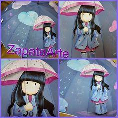ZapateArte: paraguas pintados a mano