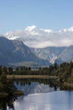 yes-to-adventure:  Mount Tasman over Lake MathesonLake Matheson...