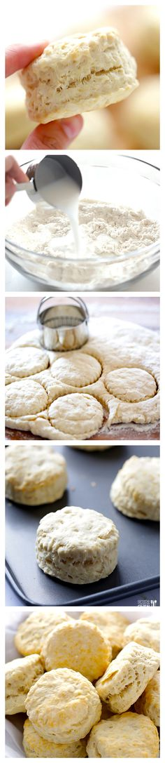 3-Ingredient Coconut Oil Biscuits -- They're super easy to make, delicious, and ready to go in 20 minutes | gimmesomeoven.com #vegan #breakfast