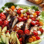 Grilled Balsamic Chicken and Avocado Bruschetta Salad