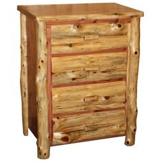 Amish Made Red Cedar Four Drawer Chest of Drawers (26.760 CZK) ❤ liked on Polyvore featuring home, furniture, storage & shelves, dressers, slab furniture, dovetail furniture, unfinished dresser, drawer furniture and red cedar furniture