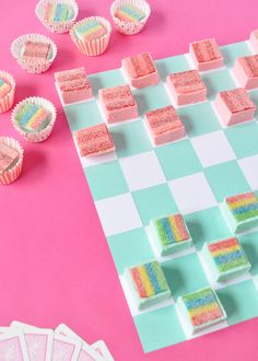Take playing with your food to a whole new level with this tasty rainbow fudge!