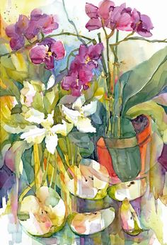 Orchid and Apples by Annelein Beukenkamp