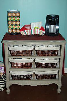 Old Dresser to Salon Coffee Station