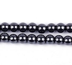 8mm Black Hematite Modern Round Fashion Jewelry Making Beads