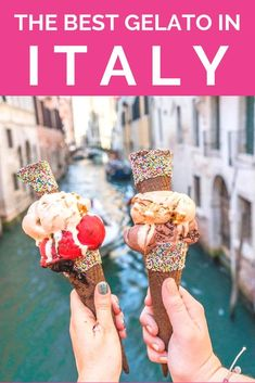 The Ultimate guide to finding the best gelato in Italy. This city by city guide will take you through the best options for gelato all around Italy and also teach you all about gelato: how it's made how to find the best kind and how to order it. Travel Tours, Travel Guides, Travel Destinations, Nightlife Travel, Budget Travel, Travel With Kids, Family Travel, Gelato Shop, Italy Travel