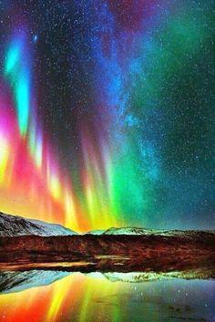 Lights of our universe, Multicolor Aurora Borealis