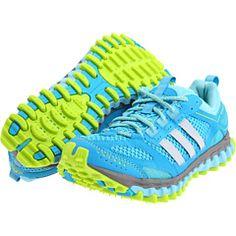 Intense blue running shoes