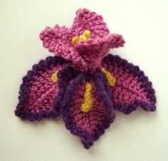 Crochet Iris Flower Pattern PDF