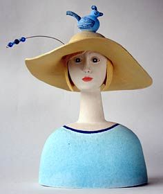 Girl in a Dream - ceramic sculpture by SueCrossfield