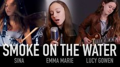 Smoke On The Water (Deep Purple); Cover by Sina, Lucy Gowen, Emma Marie Drums Sheet, Emma Marie, Smoke On The Water, Music Web, Drum Cover, Gifts For My Wife, Music Is Life, Karaoke, Music Bands